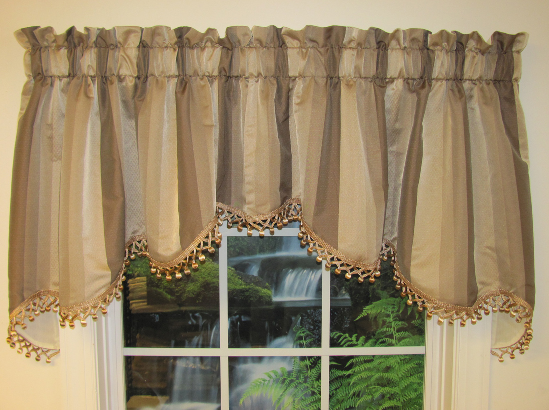 brown swag window curtains curtain menzilperde net. Black Bedroom Furniture Sets. Home Design Ideas