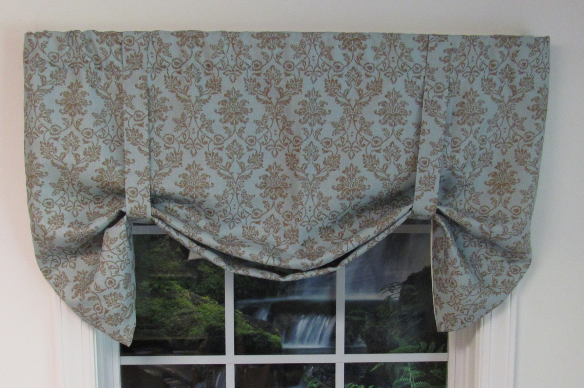 tie-up valances: solid-colored, patterned, prints