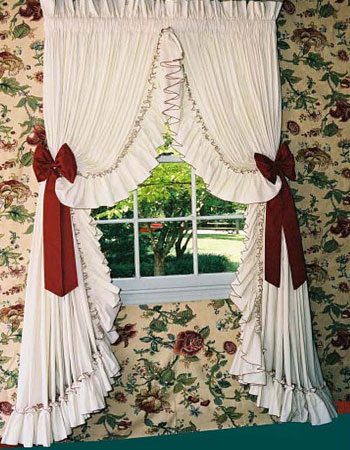 curtains carolina pearl edge ruffled country style closing out sale