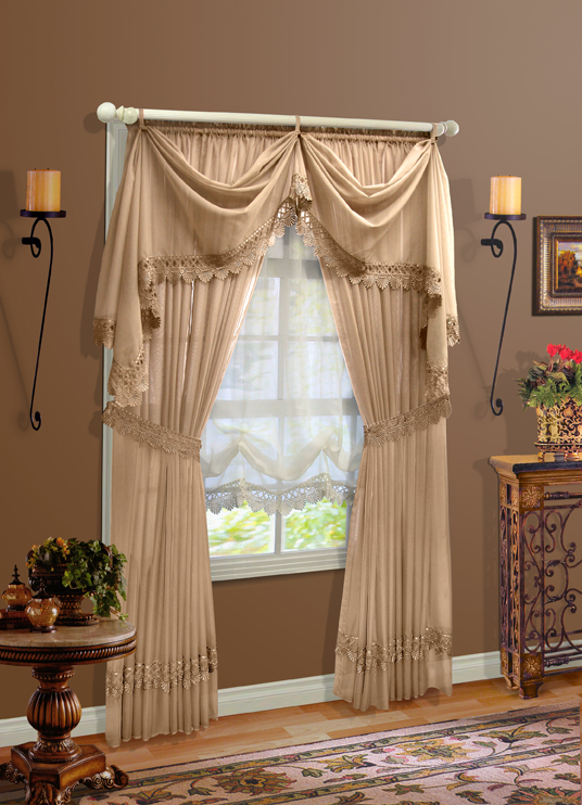 Clairvoile Macrame Sheer Curtains