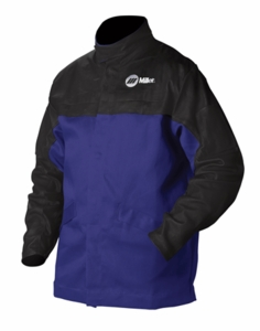 Miller Welding Jacket - INDURA® Cotton w/Leather Sleeves 231080