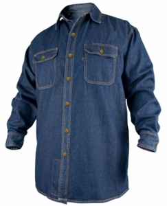 Black Stallion Denim FR Work Shirt FS8-DNM