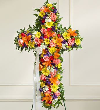 Peace and Prayers Standing Cross - Bright