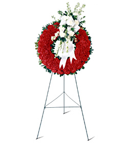 Patriotic Tribute Funeral Wreath