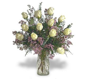 A Wonderful Mother- white Roses Bouquet
