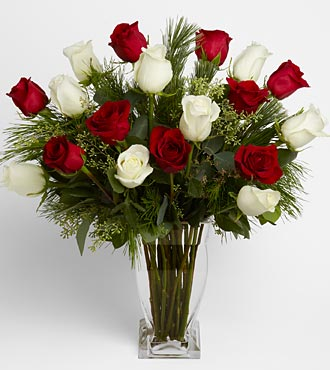 Happy Holidays Rose Bouquet