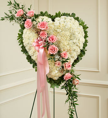 Always in My Heart Floral Heart - Pink