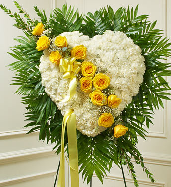 Always in My Heart Floral Heart - Yellow