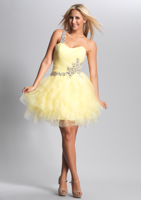 Yellow Prom Dresses by Dave and Johnny
