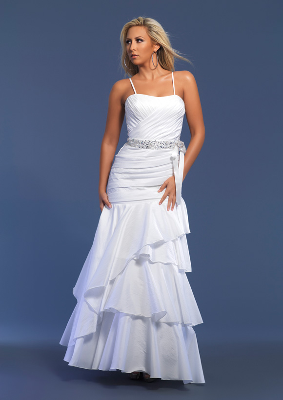 Blue and White Prom Dresses 2012