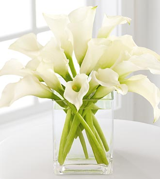 Pure of Heart Calla Lily Bouquet
