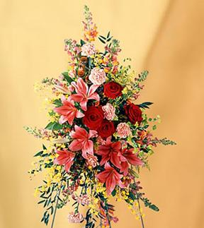 Farewell Too Soon ™ Standing Spray - Designs East Florist Dallas