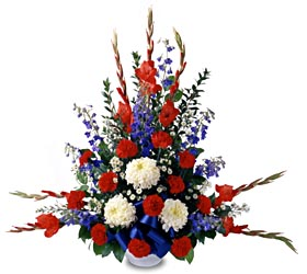 All American Tribute™Arrangement - Designs East Florist Dallas