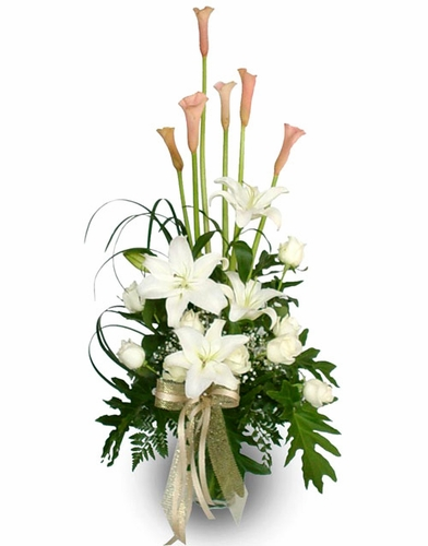 Calla Lily & Casa Blanca Bouquet - Designs East Florist Dallas