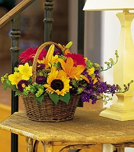 Basket of Blooms - Designs East Florist Dallas