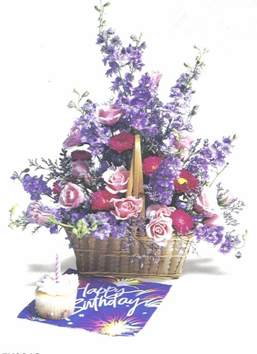 Purple Birthday Basket