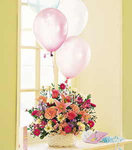 Birthday Balloon Basket - Designs East Florist Dallas
