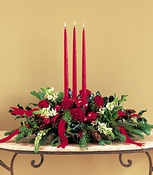 Three Taper Centerpiece - Designs East Florist Dallas