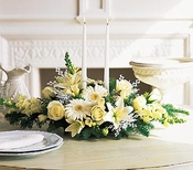 Christmas white flowers - Designs East Florist Dallas