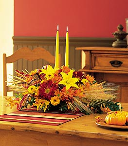 Centerpiece with Tapers - Designs East Florist Dallas