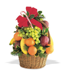 Tower Of Christmas Fruit Basket - Designs East Florist Dallas