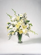 white roses & lilies - Designs East Florist Dallas