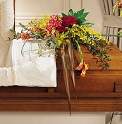 Gently into the Ever-after ™ Casket Spray - Designs East Florist Dallas