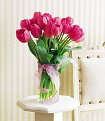 20 Hot Pink Tulip Bouquet - Designs East Florist Dallas