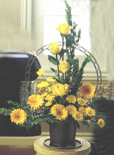 Sympathy Yellow Basket