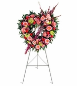 Funeral Standing Hearts
