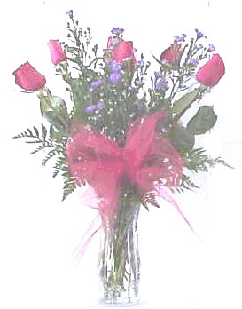 1/2 red roses - Designs East Florist Dallas