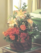 Blooming Plants with Fresh Cut Flowers - Designs East Florist Dallas