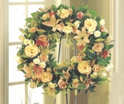 Funeral Wreath Peach & Pink