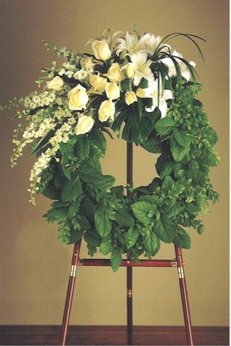 Funeral All White Flowers