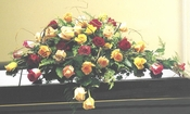 Funeral Mixed Roses Casket - Designs East Florist Dallas