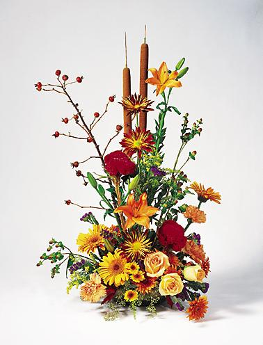 Fall Flower Basket - Designs East Florist Dallas