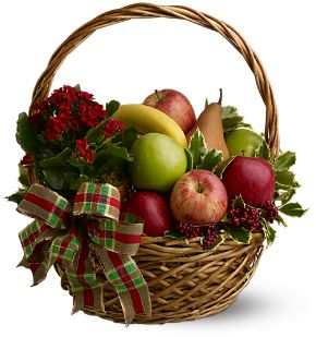 Holiday Fruit Basket - Designs East Florist Dallas