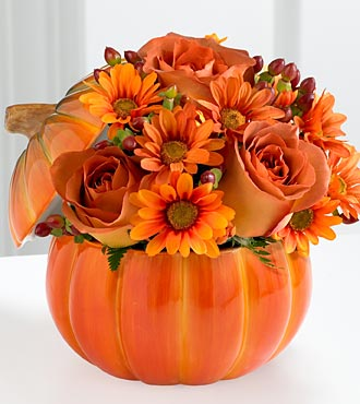Real Pumbkin Bouquet