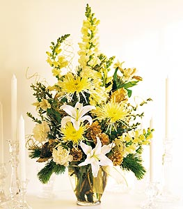White & Gold Arrangement - Designs East Florist Dallas