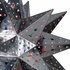 Extra Large Natural Tin Stained Glass Star Fixture