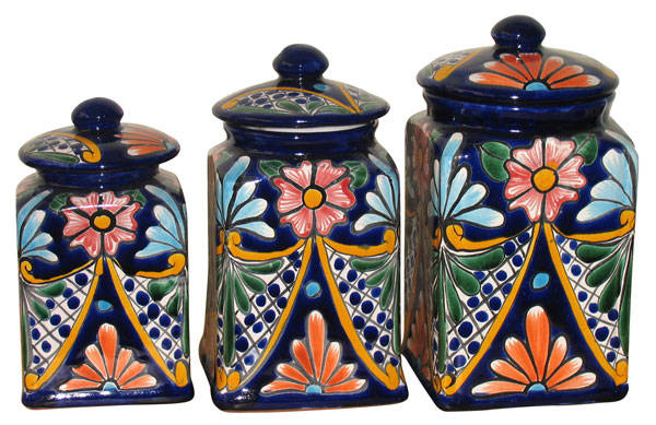 Mexican Talavera Canister Set