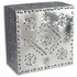 Natural Punched Tin Square Light Fixture
