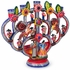 Hand Painted Clay Mariachi Candelabra Mexican Folk Art