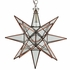 Large Copper & Glass Star Light Fixture