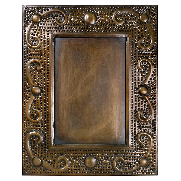 Mexican Aged Tin Simple Picture Frames 4x6 Or 5x7