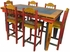Mexican Country Style - Multi-Color Tall Dining Table Set