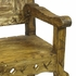 Rustic Painted Wood Throne Chair - Beige