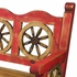 Old Mexico Red Wagon Wheel Bench