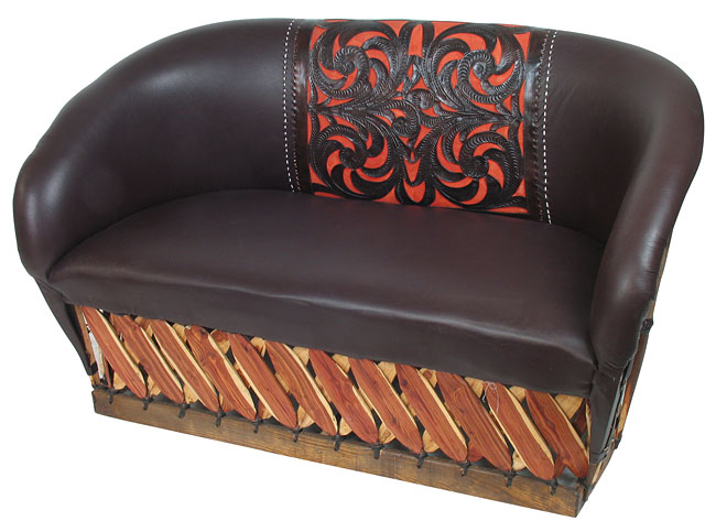 Magnificent Tanned Cowhide Equipale Leather Loveseat Small Or Large Onthecornerstone Fun Painted Chair Ideas Images Onthecornerstoneorg