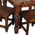 Mexican Country Square Dining Set with 4 Chairs